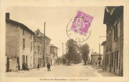 """CPA FRANCE 38 """"Le Péage de Roussillon, Route de Marseille""""."""