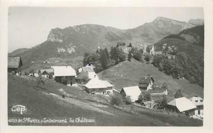 """CPSM FRANCE 38 """"St Pierre d'Entremont, Le château""""."""