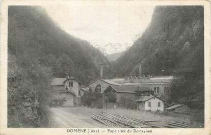 "CPA FRANCE 38 ""Domène, Papeteries du Domeynon""."