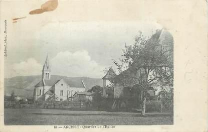 """CPA FRANCE 38 """"Arcisse, Quartier de l'église""""."""