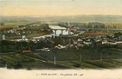 """CPA FRANCE 24 """"Port Sainte Foy, vue générale"""""""