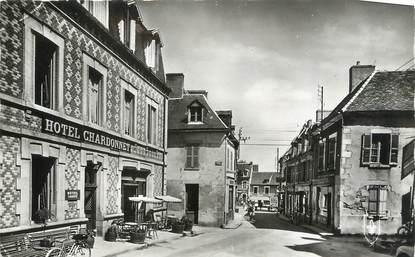 """CPSM FRANCE 23 """" Evaux les Bains, Rue de l'Hôtel de Ville""""."""
