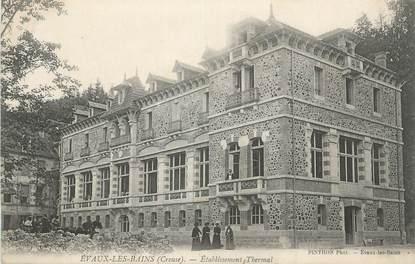 """CPA FRANCE 23 """" Environs d'Evaux les Bains, Etablissement Thermal""""."""
