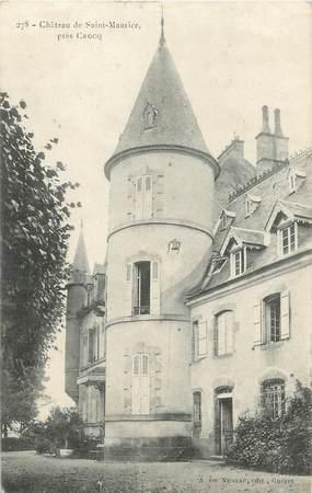 """CPA FRANCE 23 """" Près de Crocq, Le château de St Maurice""""."""