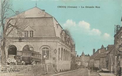 """CPA FRANCE 23 """" Crocq, La grande rue""""."""