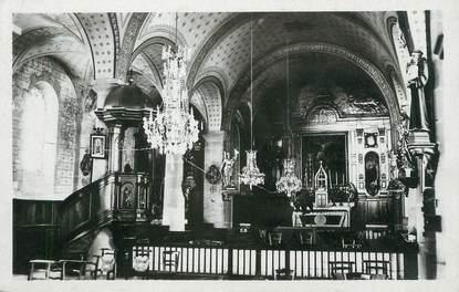 """CPSM FRANCE 23 """" Crocq, Intérieur de l'église St Eloy""""."""