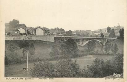 "CPA FRANCE 23 "" Bourganeuf, Nouveau pont""."