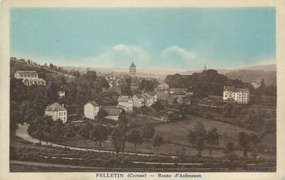 """CPA FRANCE 23 """" Felletin, Route d'Aubusson""""."""