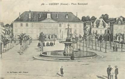 "CPA FRANCE 23 "" Guéret, Place Bonnyaud""."