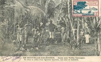 "CPA NOUVELLE CALEDONIE ""Une tribu canaque"""
