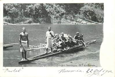 "CPA NOUVELLE CALEDONIE ""Pirogue"""