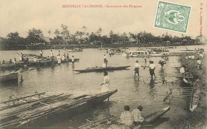 "CPA NOUVELLE CALEDONIE ""Commerce des Pirogues"""