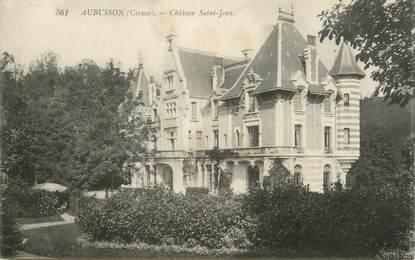 "CPA FRANCE 23 "" Aubusson, Château St Jean""."