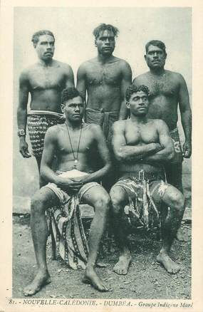 "CPA NOUVELLE CALEDONIE ""Dumbéa, groupe indigènes"""