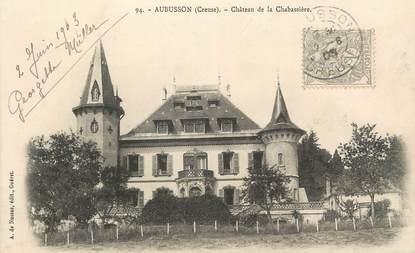 """CPA FRANCE 23 """" Aubusson, Château de la Chabassière""""."""
