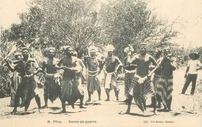"""CPA NOUVELLE CALEDONIE """"Pilou, danse de guerre"""""""