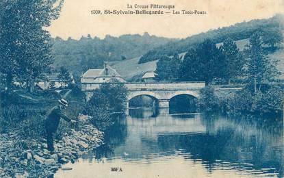 """CPA FRANCE 23 """" St Sylvain Bellegarde, Les Trois Ponts""""."""