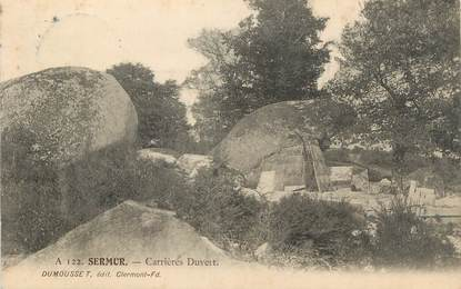 """CPA FRANCE 23 """" Sermur, Carrières Duvert""""."""