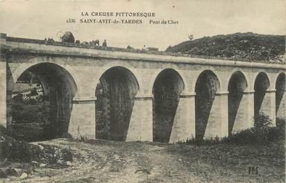 "CPA FRANCE 23 "" St Avit de Tardes, Pont du Chet""."