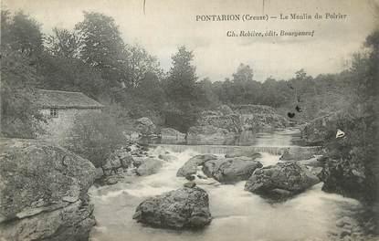 """CPA FRANCE 23 """" Pontarion, Le Moulin du Poirier""""."""