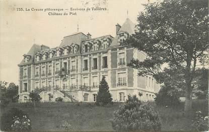 """CPA FRANCE 23 """" Environs de Vallières, Le château du Plat""""."""