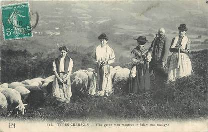 """CPA FRANCE 23 """"Types Creusois"""". / FOLKLORE"""