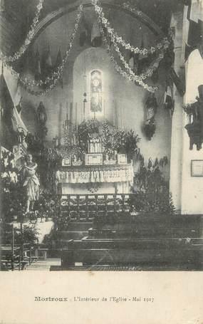 """CPA FRANCE 23 """"Mortroux, L'intérieur de l'église""""."""