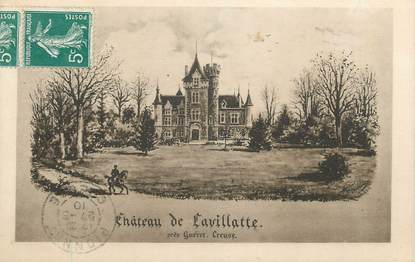 """CPA FRANCE 23 """"Lavillatte, Le château""""."""