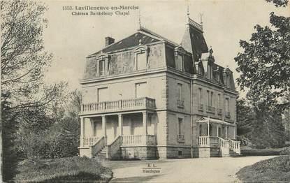 """CPA FRANCE 23 """"Lavilleneuve en Marche Château Barthélmy Chapal""""."""