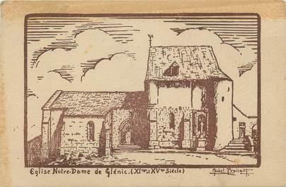 "CPA FRANCE 23 ""Glénic, L'église Notre Dame""."