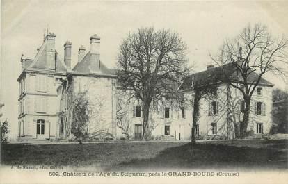 """CPA FRANCE 23 """"Près le Grand Bourg, Le château de l'Age du Seigneur""""."""