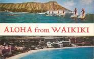 """Etat Uni CPSM HAWAII """"Waikiki"""" / SURF"""