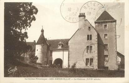 "CPA FRANCE 23 ""Genouillat, Le château""."