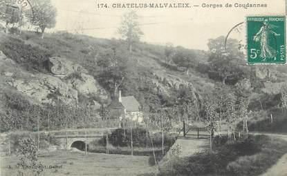 """CPA FRANCE 23 """"Chatelus Malvaleix, Gorges de Goudannes""""."""