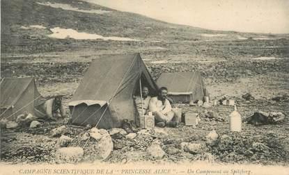 CPA POLAIRE / Campement au Spitzberg