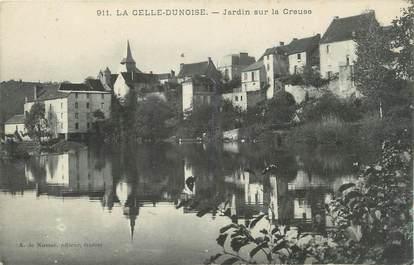 """CPA FRANCE 23 """"La Celle - Dunoise, Jardin sur la Creuse""""."""