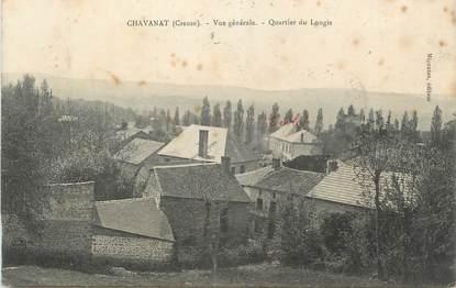 """CPA FRANCE 23 """"Chavanat, Vue générale, Le quartier du Longis""""."""