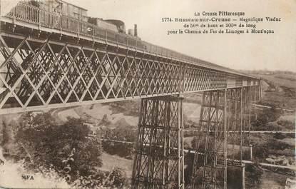 """CPA FRANCE 23 """"Busseau sur Creuse,, Le viaduc""""."""