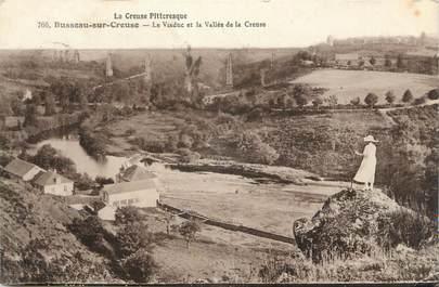 """CPA FRANCE 23 """"Busseau sur Creuse,, Le viaduc et la Vallée de la Creuse""""."""
