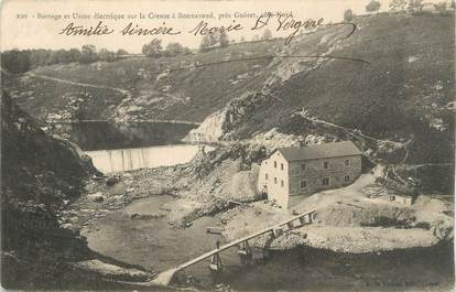 """CPA FRANCE 23 """" Bonnevaud, Barrage et usine électrique sur la Creuze""""."""