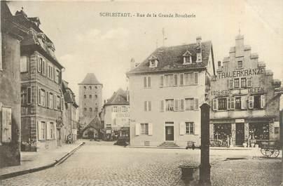 "CPA FRANCE 67 "" Selestat, Rue de la grande boucherie""."