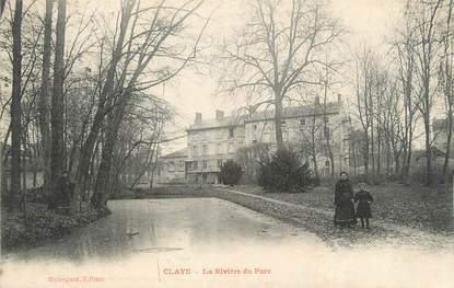 """CPA FRANCE 77 """"Claye, La rivière du parc""""."""