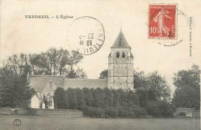"""CPA FRANCE 02 """"Vendeuil, L'église""""."""