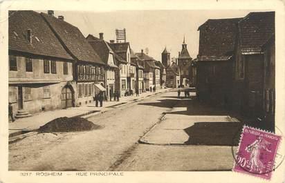 """CPA FRANCE 67 """" Rosheim, Rue principale""""."""