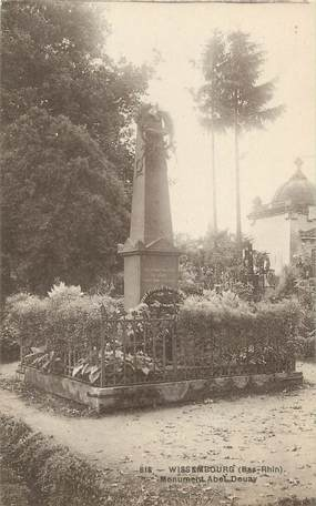 """CPA FRANCE 67 """" Wissembourg, Le monument Abel Douay""""."""