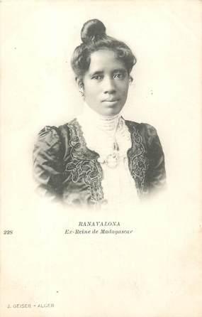 """CPA MADAGASCAR """"Ranavalona, ex reine de Madagascar"""""""