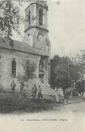 """CPA FRANCE 90 """" St Léger, L'église""""."""