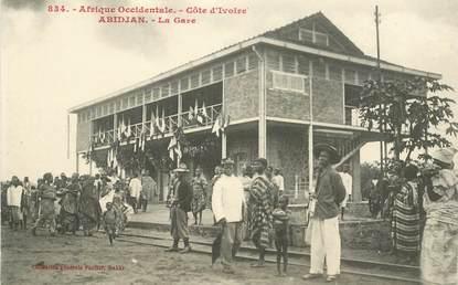 """CPA COTE D'IVOIRE """"Abidjan, la gare"""""""