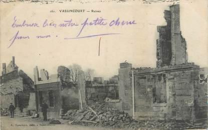 "CPA FRANCE 55 "" Vassincourt, Ruines""."