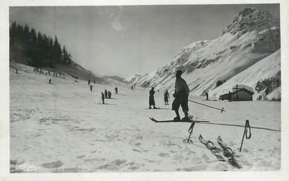 """CPSM FRANCE 73 """" Val d'Isère, Champs de ski""""."""